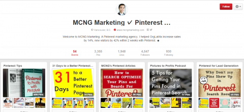 Pinterest Marketing Vicent