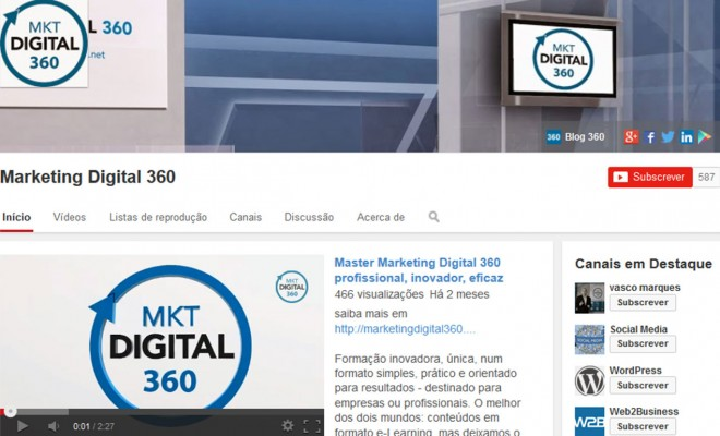 Canal Youtube Marketing Digital 360